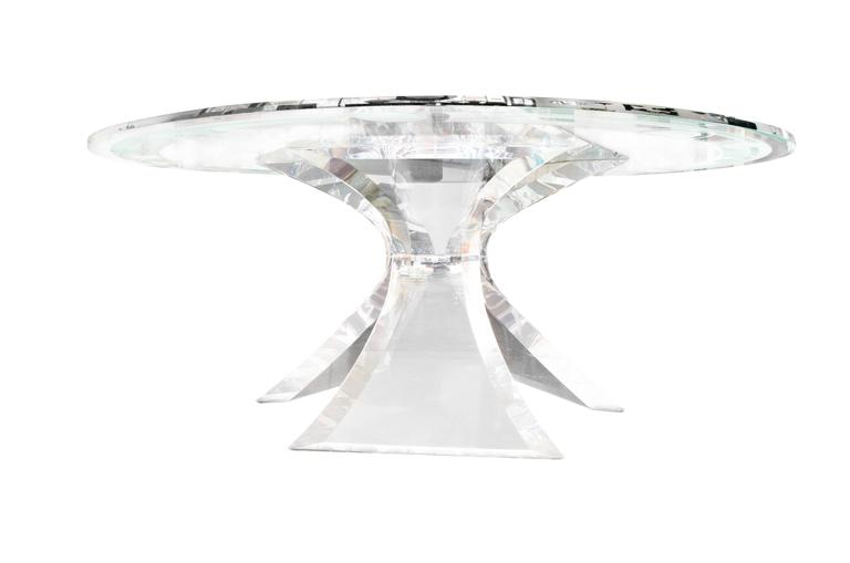 Lucite dining table by lion in frost at 1stdibs - Congelateur table top no frost ...
