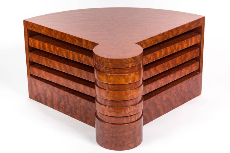 Mid-Century Modern Rare Burl Wood