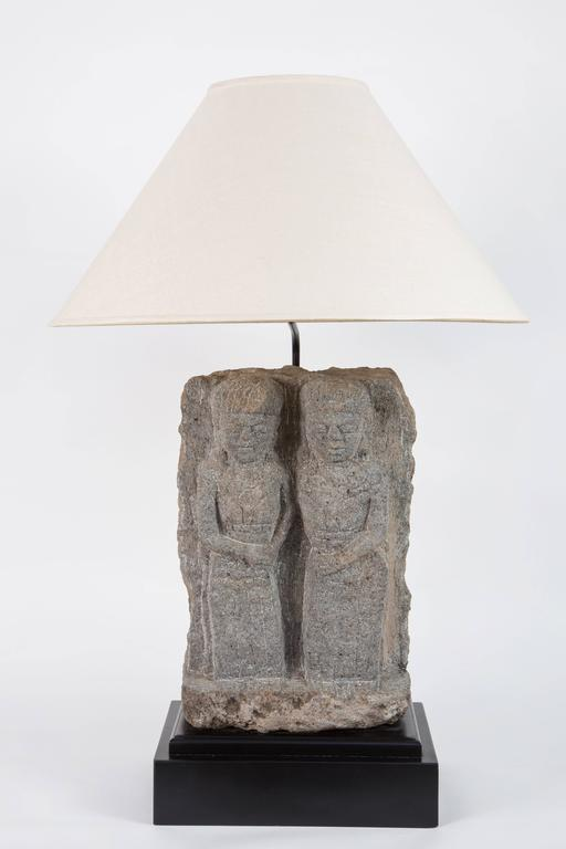 Other Pair of Custom Stone Fragment Lamps  For Sale