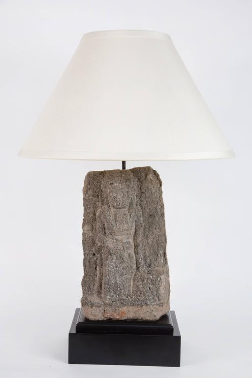 Pair of Custom Stone Fragment Lamps  For Sale 1