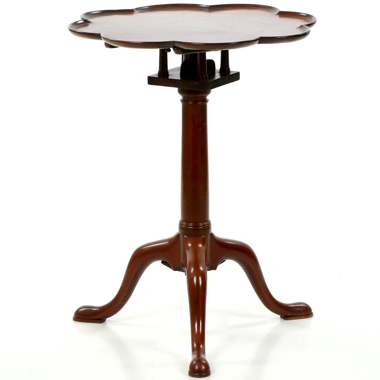 English George Iii Mahogany Octofoil Antique Wine Table