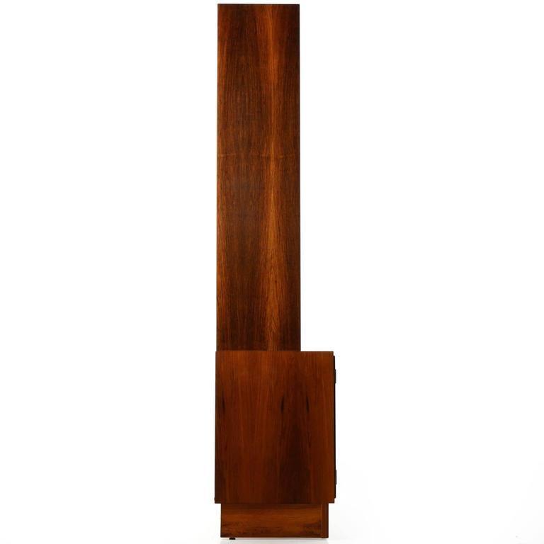 danish midcentury modern rosewood bookcase display cabinet poul hundevad 3
