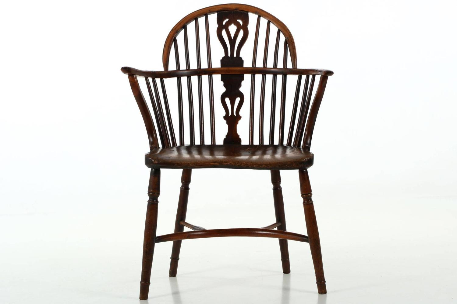Fine English Yew And Elm Antique Windsor Armchair Circa 1810 1840 At . Full resolution‎  photograph, nominally Width 1500 Height 1000 pixels, photograph with #65412E.