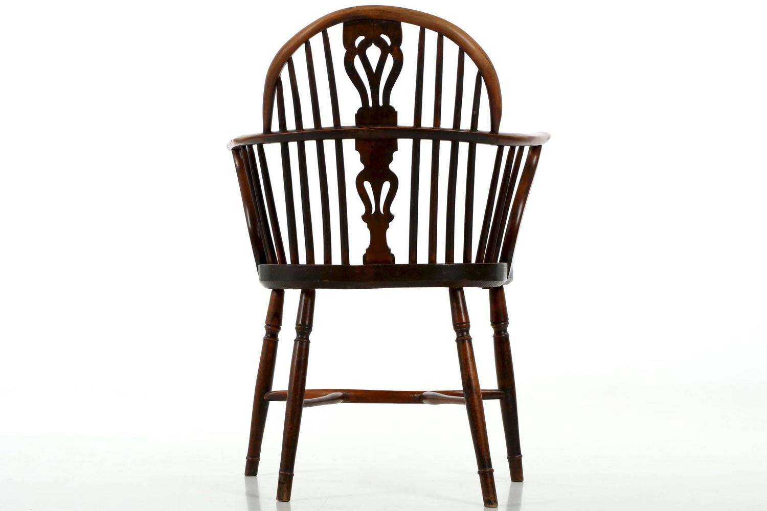 Amazing photo of Fine English Yew and Elm Antique Windsor Armchair circa 1810 1840 at  with #28160E color and 1500x1000 pixels