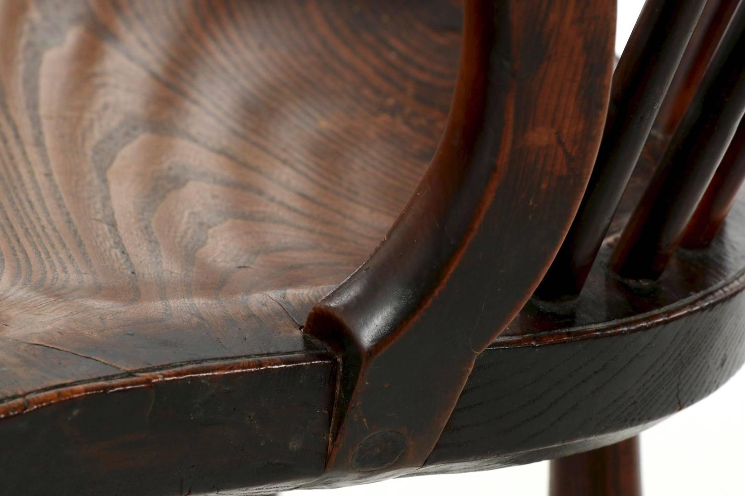 Amazing photo of Fine English Yew and Elm Antique Windsor Armchair circa 1810 1840 at  with #644435 color and 1500x1000 pixels
