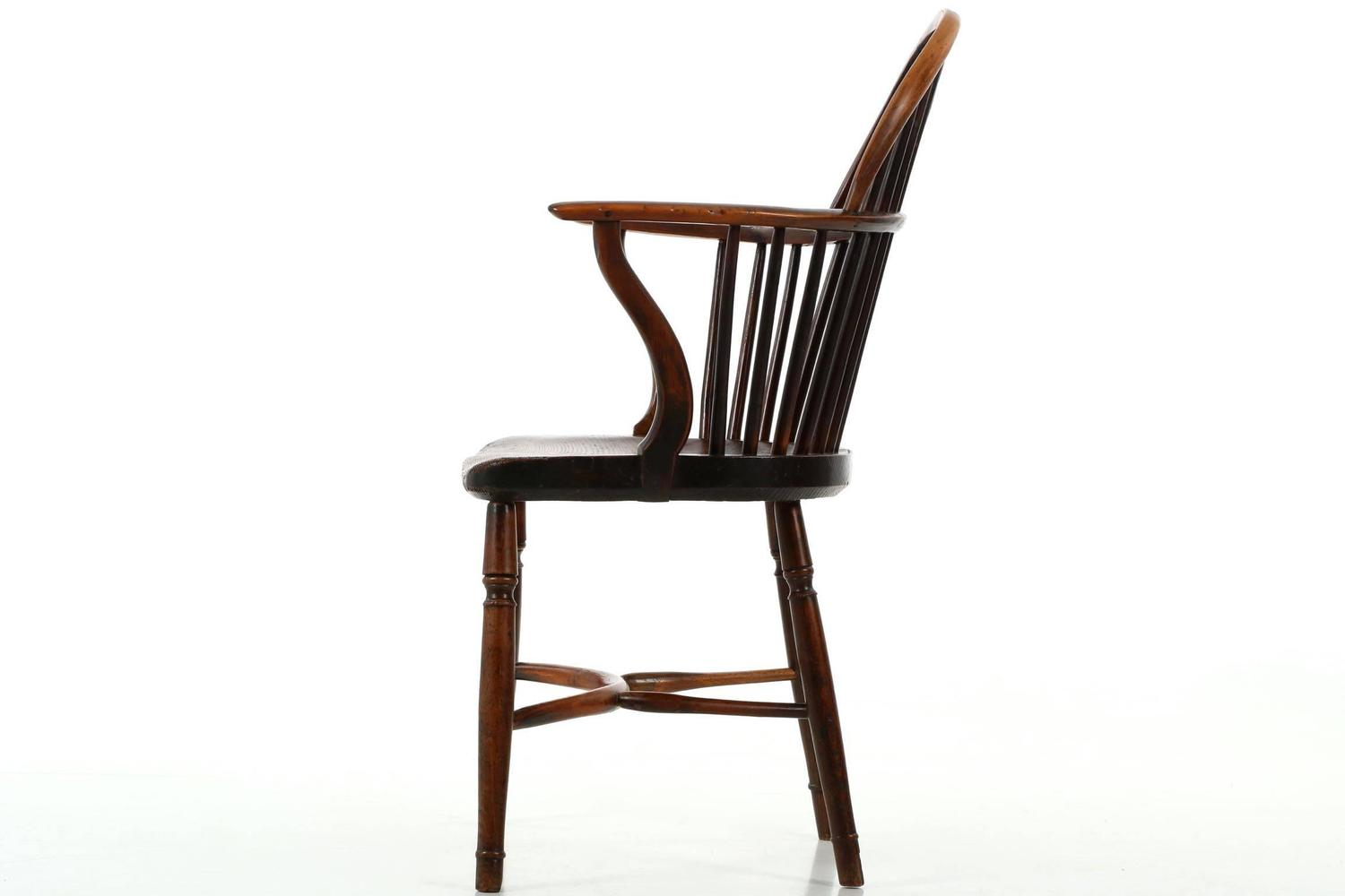 Fine English Yew And Elm Antique Windsor Armchair Circa 1810 1840 At . Full resolution  photograph, nominally Width 1500 Height 1000 pixels, photograph with #673E2A.