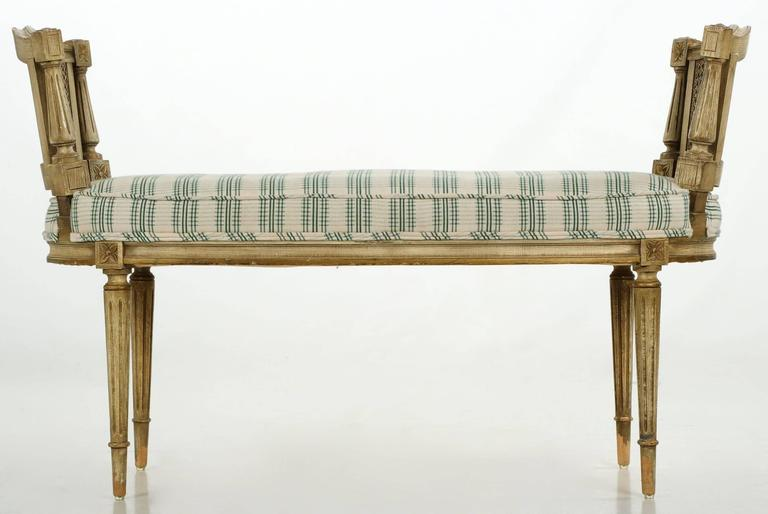 vintage french neoclassical distressed painted window bench circa 1920 1940 at 1stdibs. Black Bedroom Furniture Sets. Home Design Ideas