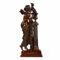 Fine Authentic Bronze Sculpture of L'aurore by Mathurin Moreau, circa 1880