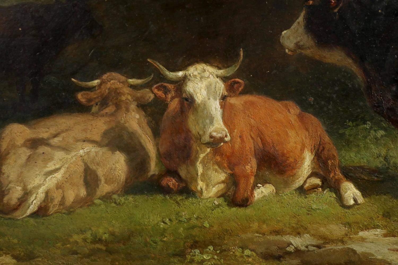 Friedrich Johann Voltz Antique Painting Quot Cattle And