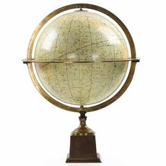Fine Antique French Celestial Table Globe by Charles Dien, 19th Century
