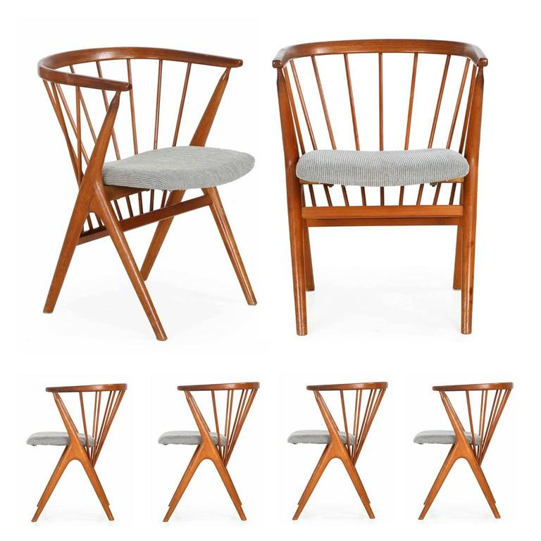 Rare Set Of Six Helge Sibast For Sibast M 248 Bler No 8 Dining Chairs Circa 1960 At 1stdibs