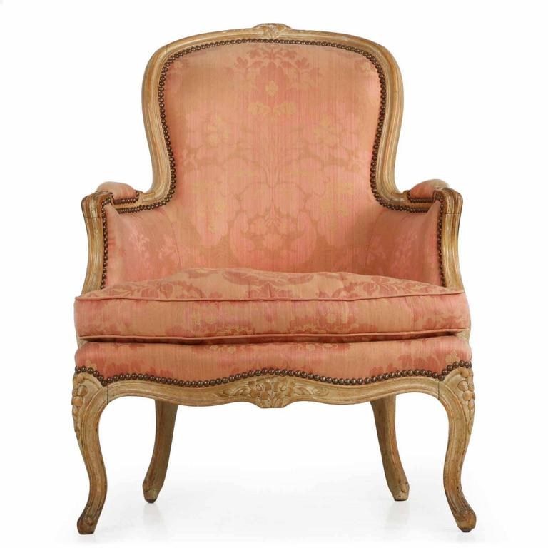 French louis xv style worn beechwood chaise longue 19th for Chaise louis xv