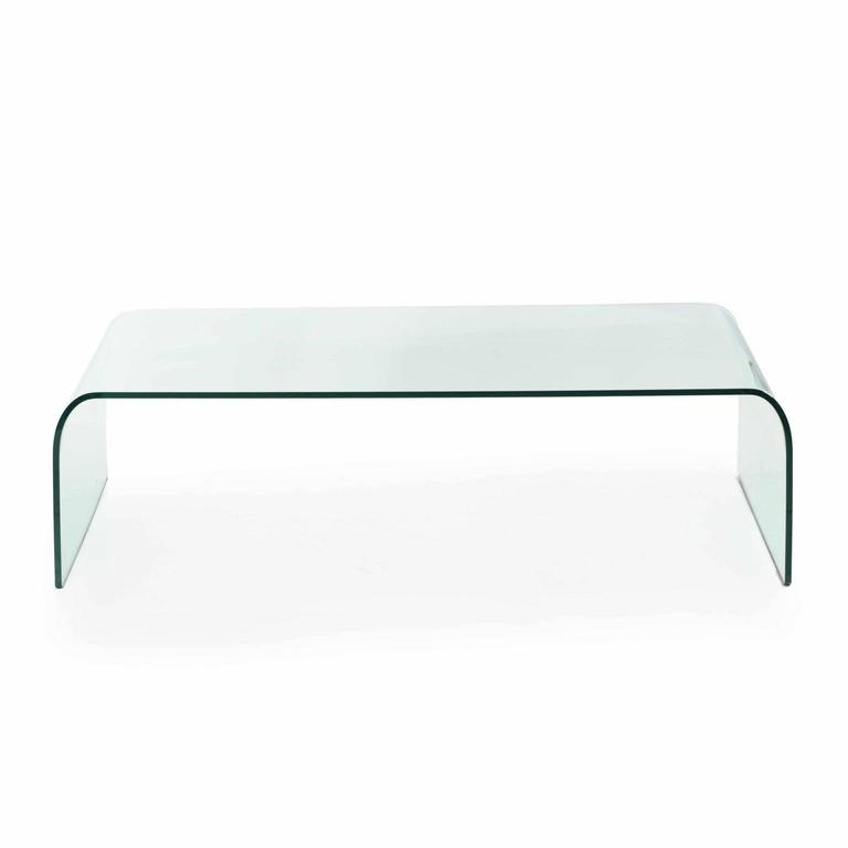 This High Quality Tempered Glass Waterfall Table Was Designed By Angelo  Cortesi And Manufactured By Fiam