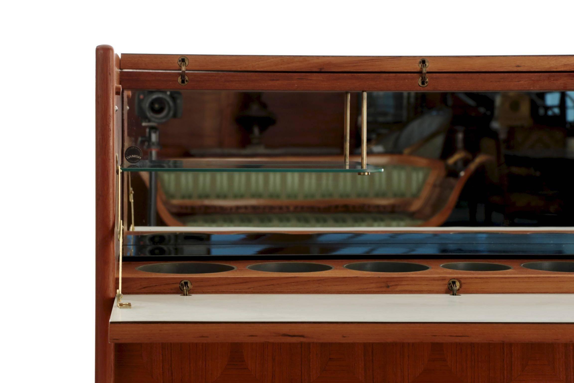mid dyrlund bar cabinet by rosewood century