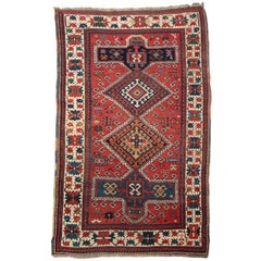 Antique Caucasian Kazak Area Rug, circa 1900