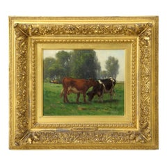 Carleton Wiggins Landscape Painting of Cows