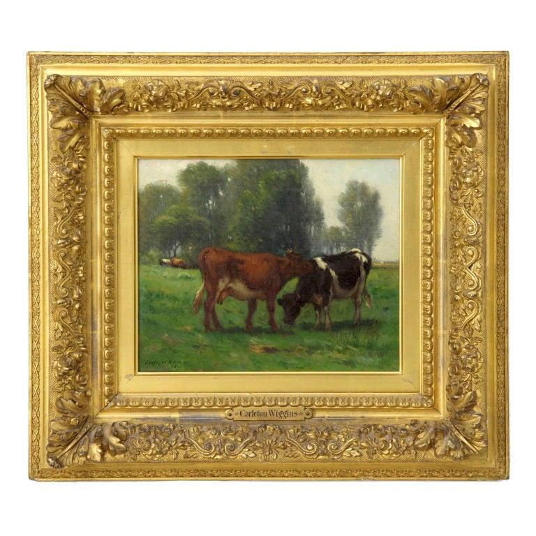 Carleton Wiggins Landscape Painting of Cows