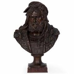 Antique French Bronze Sculpture Bust of Albrecht Dürer by Albert Carrier-Belleus
