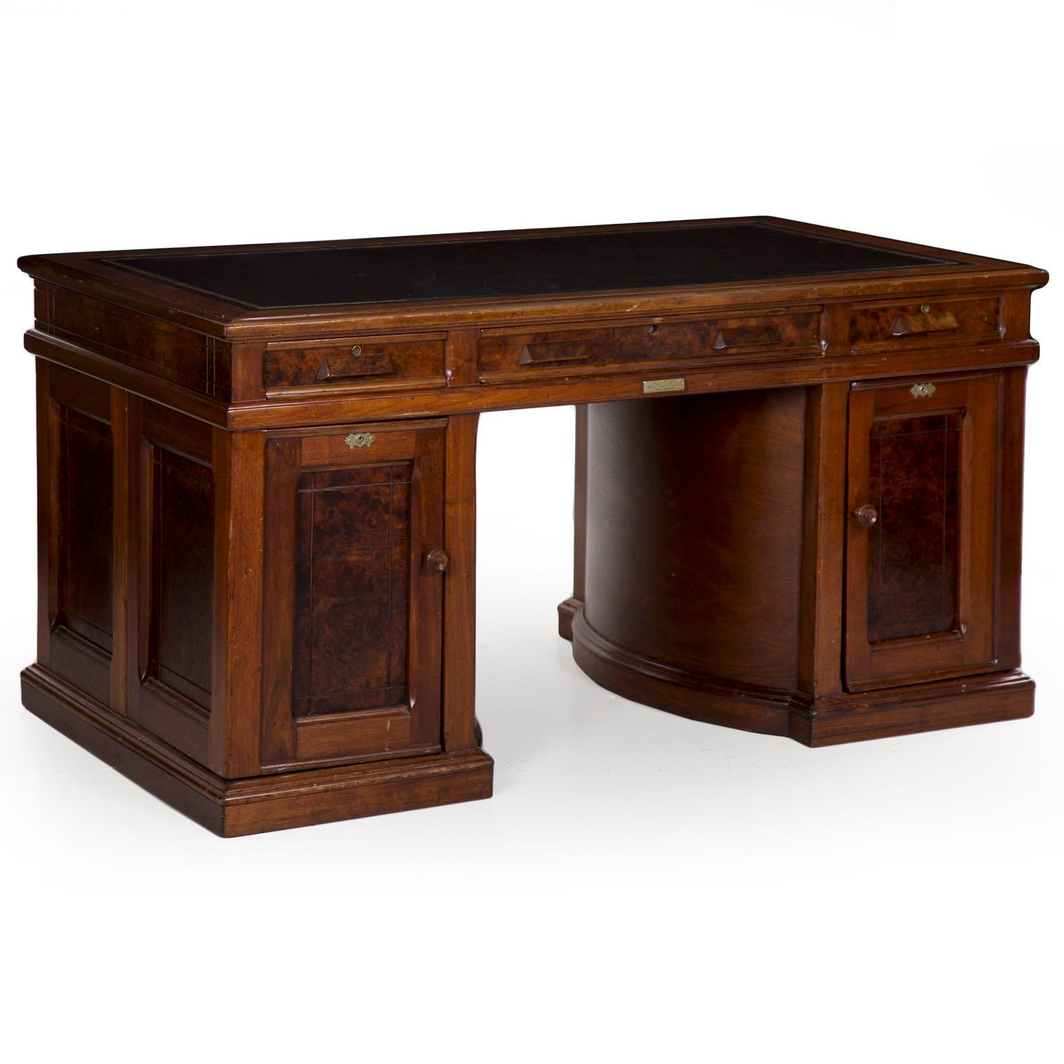 A Rare And Excellent Office Desk Designed And Manufactured By The Wooton Desk  Company Of Indianapolis