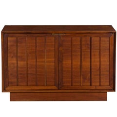 Mid-Century Modern Walnut Cabinet Credenza