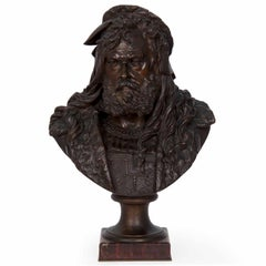 Albert Carrier-Belleus French Bronze Antique Sculpture Bust of Albrecht Dürer
