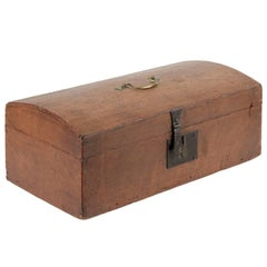 Americana Folk Art Dovetailed Antique Document Box, circa 1830-1850