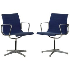 Mid-Century Modern Pair of Office Chairs, Charles Eames & Herman Miller c. 1960