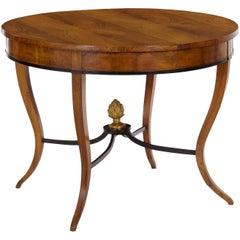 Antique Austrian Biedermeier Round Fruitwood Centre Table, circa 1825