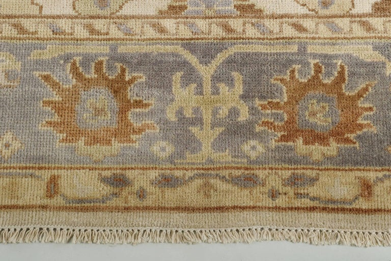 20th Century Turkish Angola Anatolian Oushak Style Vintage Rug For Sale 4