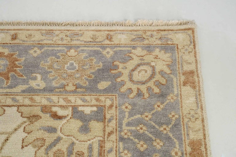 20th Century Turkish Angola Anatolian Oushak Style Vintage Rug For Sale 5