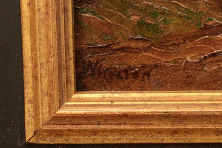Francis Wheaton Pastoral Sheep Landscape Antique Oil Painting For Sale 1