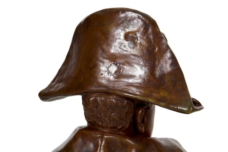 Renzo Colombo Italian, 1856-1885 Antique Bronze Sculpture 'Bust of Napoleon' For Sale 4