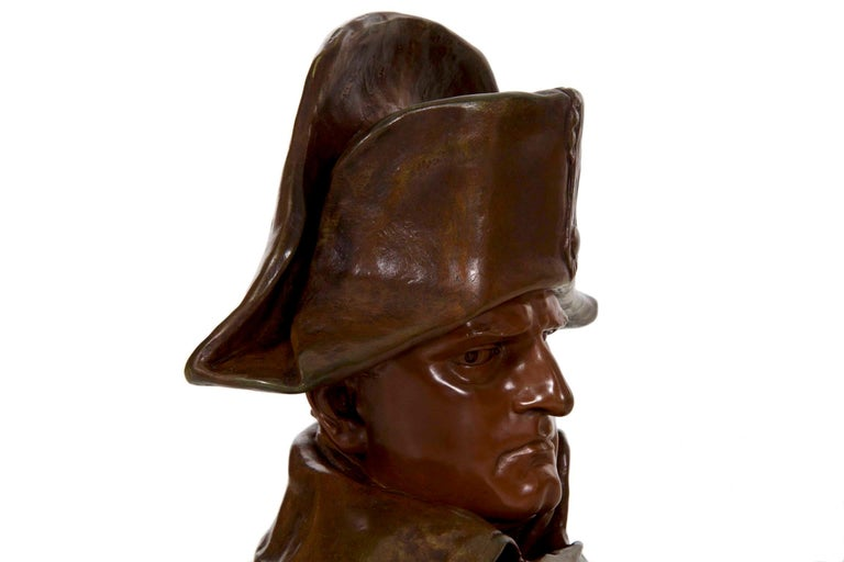 Renzo Colombo Italian, 1856-1885 Antique Bronze Sculpture 'Bust of Napoleon' For Sale 6