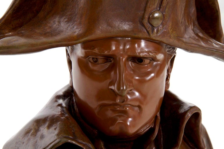 Renzo Colombo Italian, 1856-1885 Antique Bronze Sculpture 'Bust of Napoleon' For Sale 9