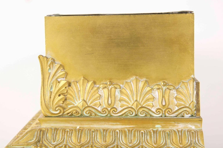 19th Century Empire Gilt Bronze Antique Jardinière Planter, France In Good Condition For Sale In Shippensburg, PA