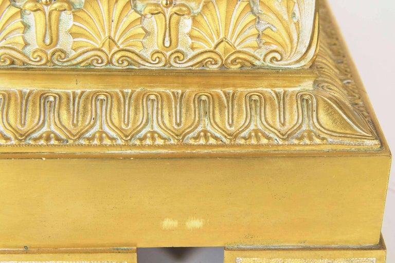 19th Century Empire Gilt Bronze Antique Jardinière Planter, France For Sale 2