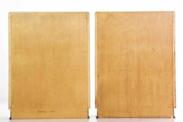 Art Deco Pair of Birch and Rosewood Bookcase Cabinets, circa 1930 In Good Condition For Sale In Shippensburg, PA