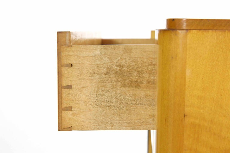 Art Deco Pair of Birch and Rosewood Bookcase Cabinets, circa 1930 For Sale 3