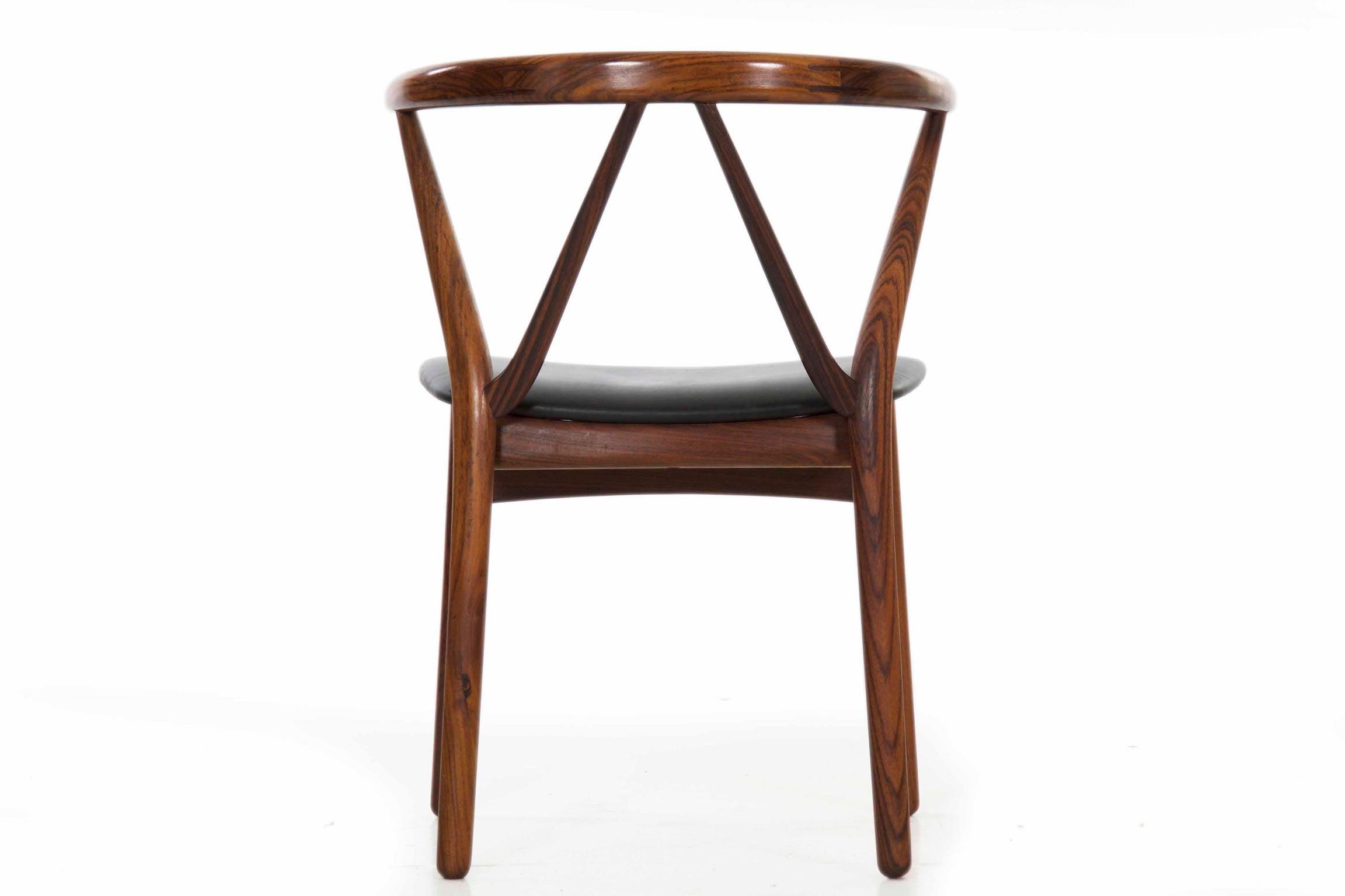 Superb Midcentury Danish Modern Hoop Back Rosewood Chair By Kjaernulf For Hansen Short Links Chair Design For Home Short Linksinfo