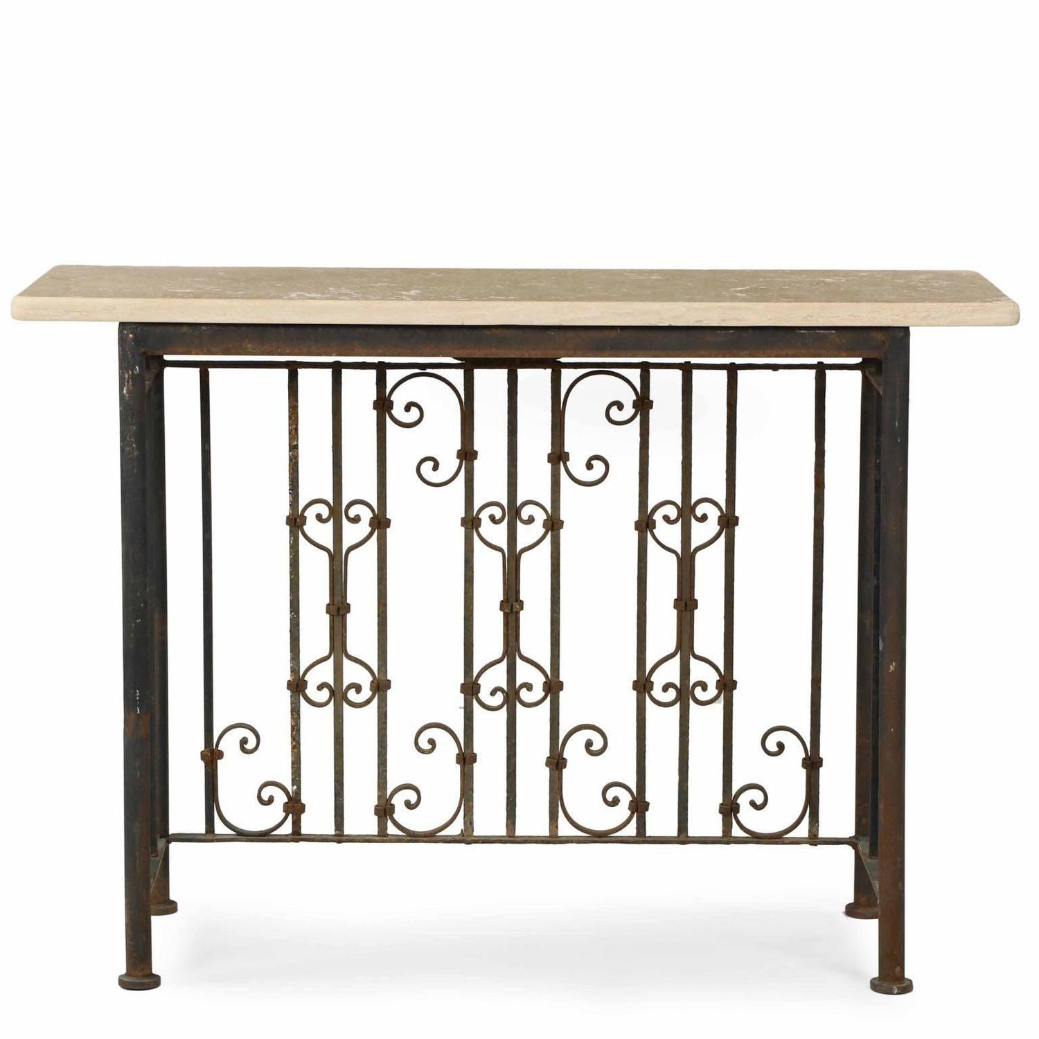 Iron Console Table : Antique_Iron_Console_Table_all02_z.jpg