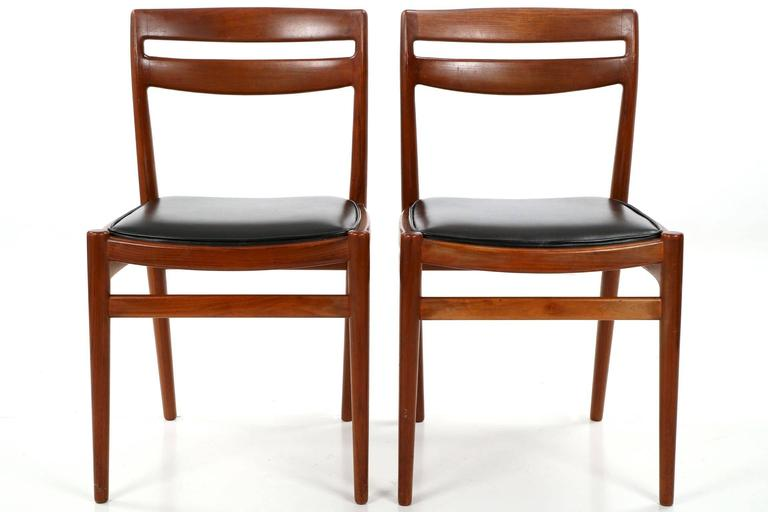 Four Danish Mid-Century Modern Teakwood Side Chairs Retailed by Leo Spivak Inc.  sc 1 st  1stDibs & Four Danish Mid-Century Modern Teakwood Side Chairs Retailed by Leo ...