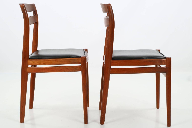 Four Danish Mid Century Modern Teakwood Side Chairs