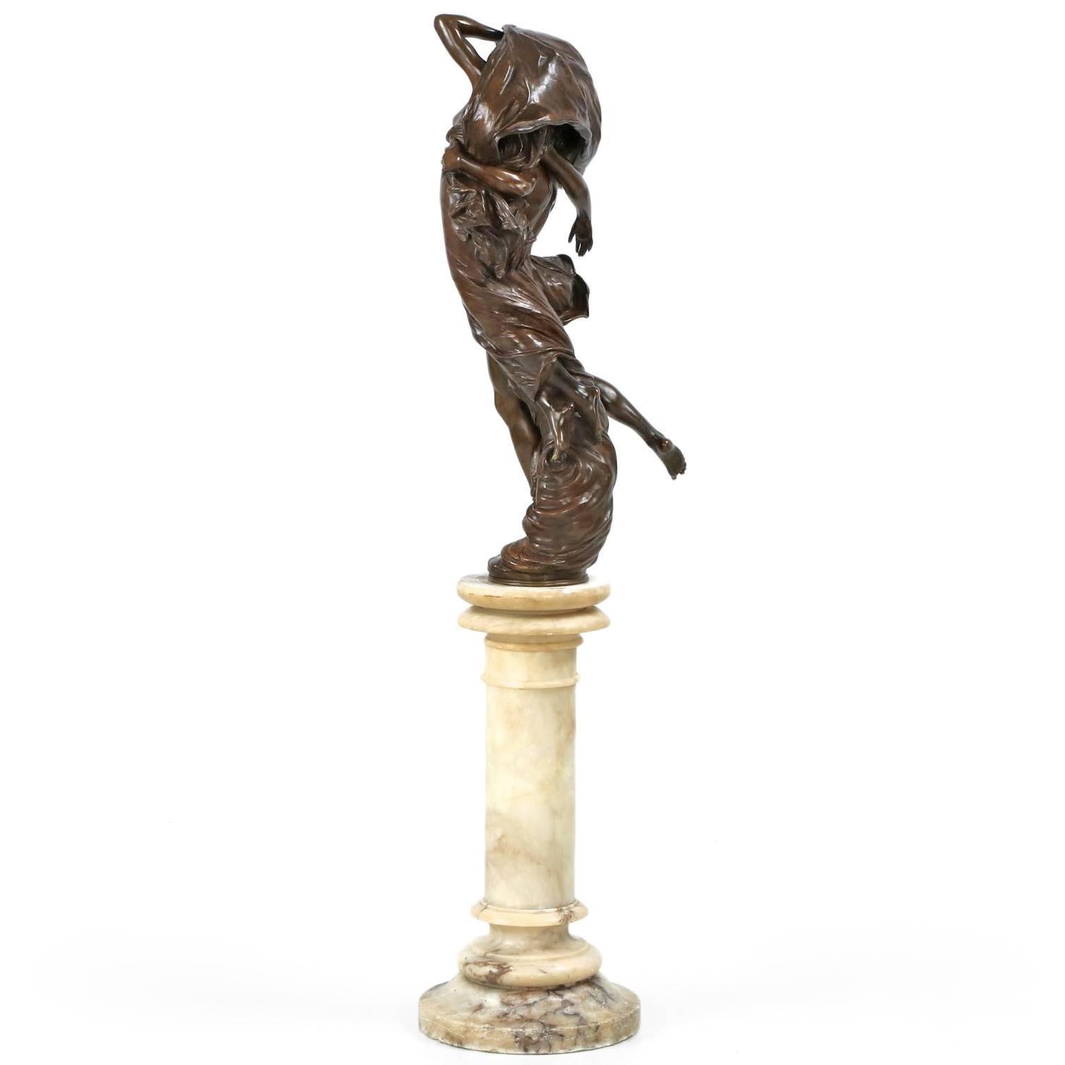 Eugéne Marioton Bronze Group Sculpture of \