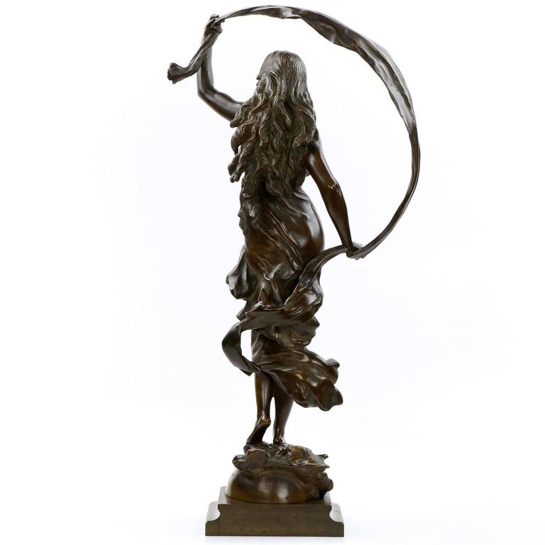 71b5d99663e French Large Bronze Sculpture of L Aurore After Model by Auguste Moreau