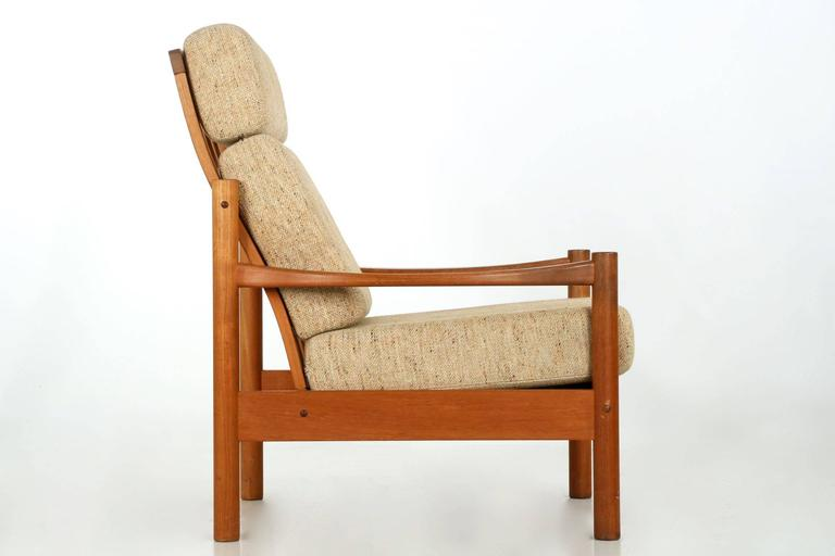 Danish Mid Century Sculpted Teak Lounge Chair And Sofa By
