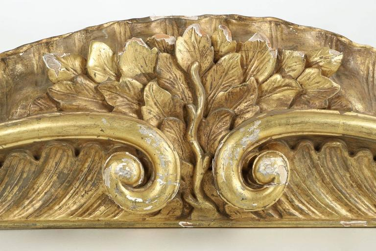 pair of rococo carved giltwood architectural pelmets pediments  circa 1850