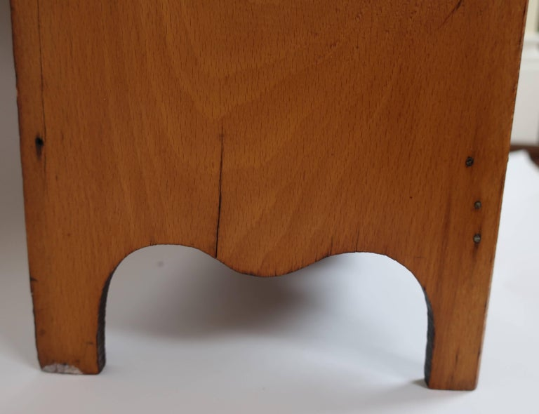 Early 19th Century American Miniature Pine Chest of Drawers For Sale 1
