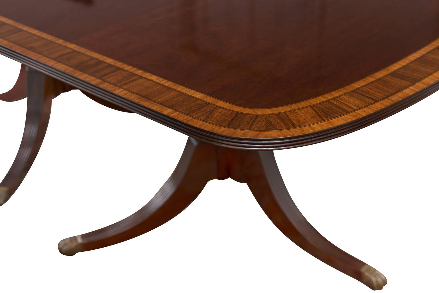 sheraton style double pedestal mahogany dining table at 1stdibs