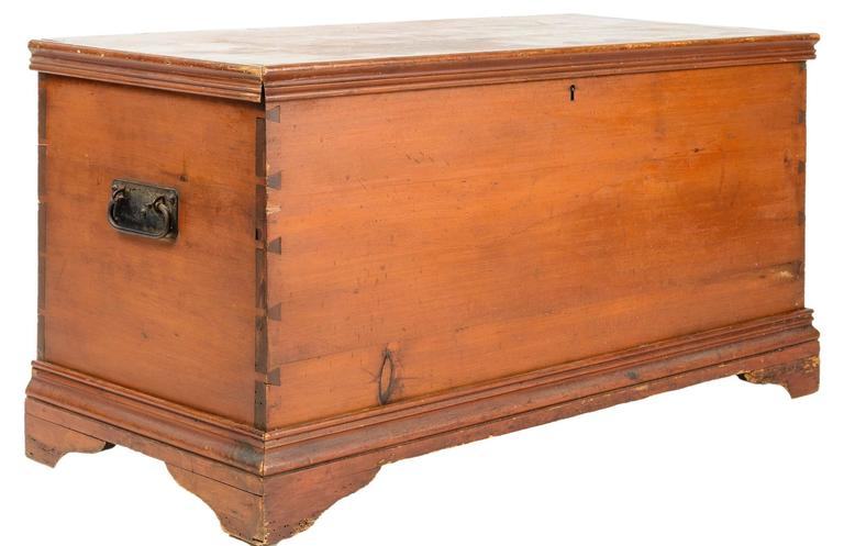 18th Century American Blanket Box Or Hope Chest At 1stdibs