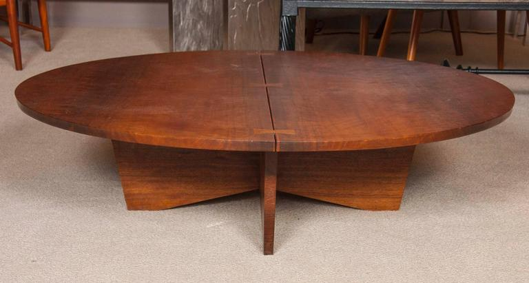 American Rare George Nakashima Coffee Table in Indian Laurel, 1969 For Sale
